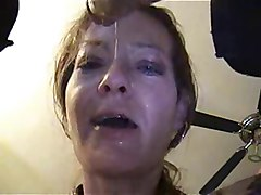 russian mom deepthroats and swallows a big load