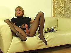 ripped pantyhose