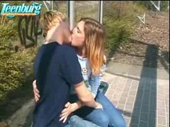blonde outdoor anal