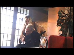 Beautiful blonde with hot body gets drilled on the couch