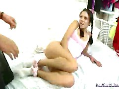 cute teen masturbating solo at best