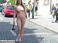 Hot Babe MonaLee Has Fun In Public Streets