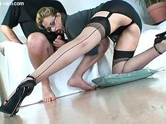 mother in nylon licked