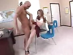 Slender Lexi gets her shaved pussy fucked by her horny professor