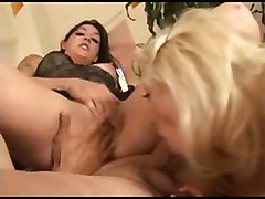sweet handjob cum threesome