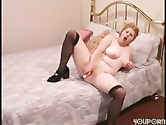 bbw dildo riding solo