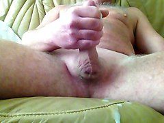 A saturday wank after shaving my cock