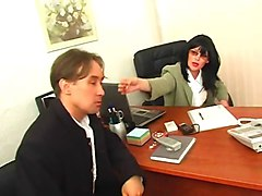 russian office threesome teen