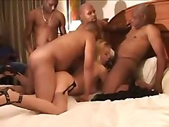 russian blonde gangbang