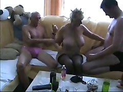 real amateur mature blonde threesome