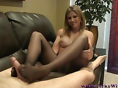 morning wood handjob mom