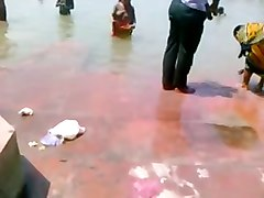 bangla desi village bathing in public