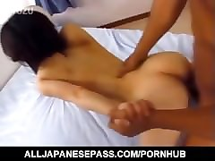 japanese av model is fucked in vagina and gets cum on pretty face