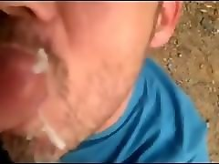 mature give swallow cum face public bathroom