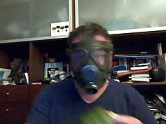 gasmask training