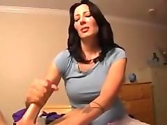 handjob mother and son