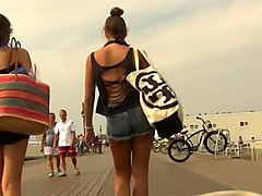 young candid street asses shorts voyeur
