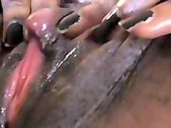 tight pussy big clit ebony rubs on pussy till clit is swollen