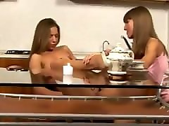 teen girls experimenting