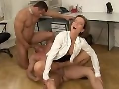 office threesome seduced