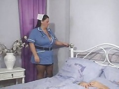 nurse taking sperm sample
