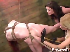tied for blowjob
