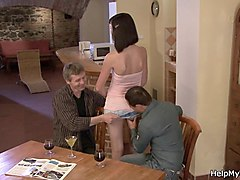 wife watches husband fuck step daughter