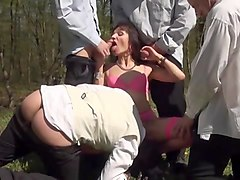 cuckold wife gangbanged in front of husband
