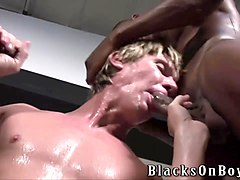 amateur blonde gangbanged by blacks