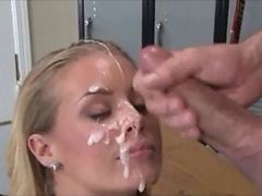 amateur dominica gets facial after butt fuck