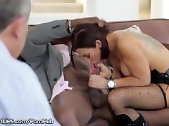 nympho wife vero cuckold husband with black cock