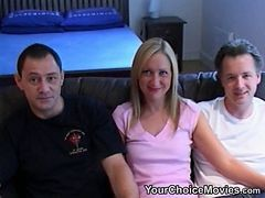 alan watching his wife getting fucked by 2 guys