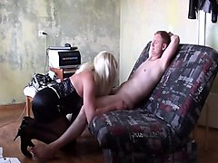 russian mature takes 2 cocks