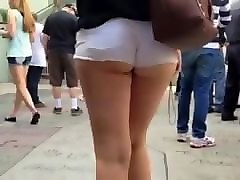gay big boi ass shaking in booty shorts thick legs