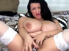 solo huge tits strip