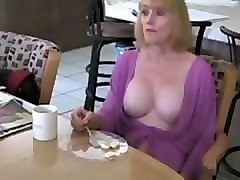 white mature mom and daughter team up and fuck a
