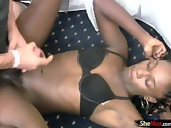 black tranny blowjob