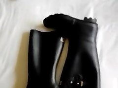 rainwear and cum on my women wellies (part 2)