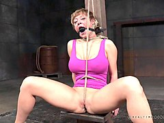 short-haired cutie can't believe how rough a bdsm session can get!