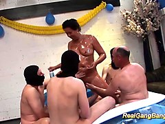 mom gangbang in front of son