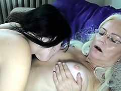 younger girl gos to bed with older lady