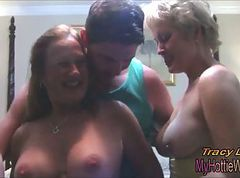threesome cum dripping from pussy