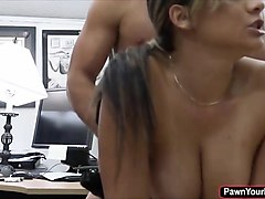 black pantyhose black skirt office creampie