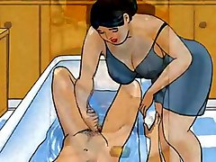 mom domanting handjob