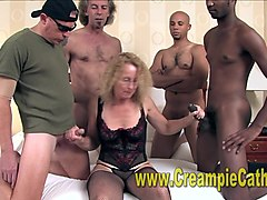wife watches husband creampie another women