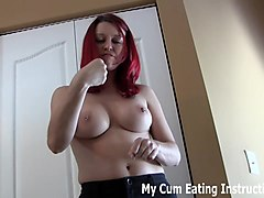 wank and eat your cum for mistress