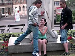 girl mastrubates in public