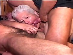 granny gangbanged boy cleans up cum group sex