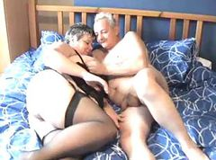 mature couple and young woman
