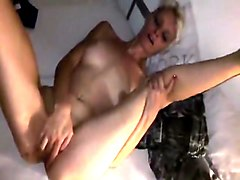 Tall Bitch Rubs Her Clit Before Anal